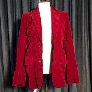 Vintage red velvet lined blazer